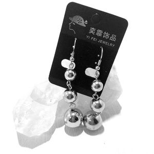 Jewelry - Silver Ball Statement Earrings